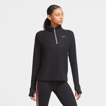 Nike Sphere 1/2-Zip hardlooptop Dames Zwart