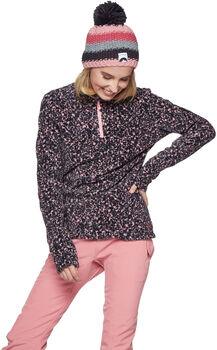 Protest Fuzzy 1/4 Zip sweater Dames Roze