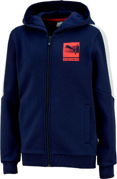 Puma Hooded FullZip kids fleece Jongens Blauw