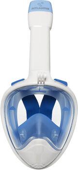 Atlantis 2.0 white/blue s/m snorkelmasker Wit
