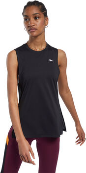 Reebok Workout Ready Mesh Tanktop Dames Zwart