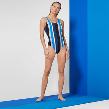 Tweka Gradient Stripe badpak Dames Blauw