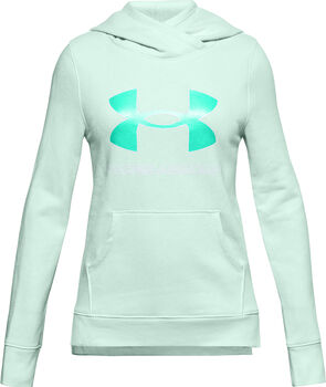Under Armour Rival Fleece Logo kids hoodie Blauw
