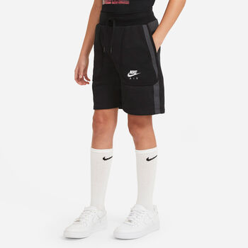 Nike Air French Terry kids short Zwart