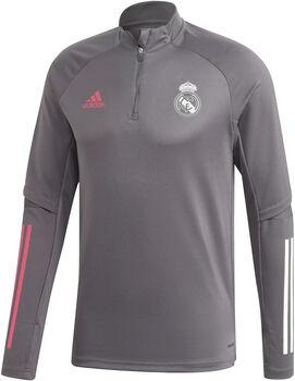 adidas Real Madrid trainingsshirt 20/21 Heren Grijs