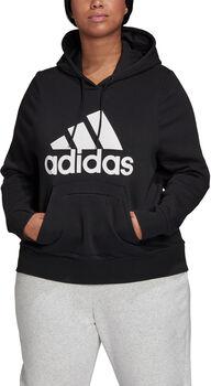adidas Badge of Sport Pullover Fleece hoodie (Grote Maat) Dames Zwart