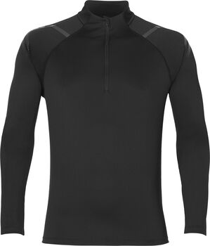 Asics Icon LS 1/2 Zip shirt Heren Zwart