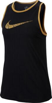 Nike Dry Glam Dunk hemd Dames Zwart