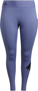 adidas Techfit Lange Logo legging (Grote Maat) Dames Paars