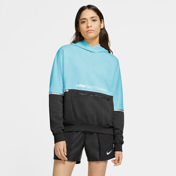 Nike Sportswear Archive Remix French Terry Pullover hoodie Dames Blauw