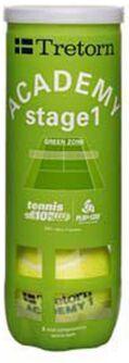Academy Green 3-tube tennisballen