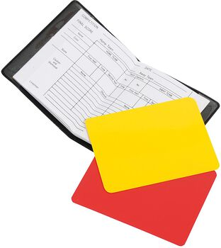 Stanno Referee Cards + Wallet Zwart