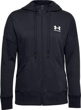 Under Armour Rival Fleece Full Zip hoodie Dames Zwart