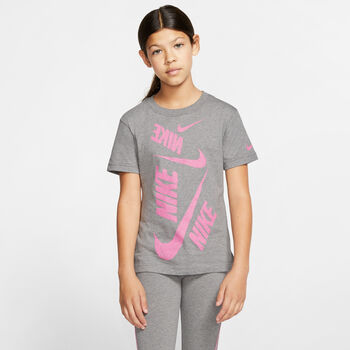 Nike Sportswear Swoosh shirt Meisjes Zwart