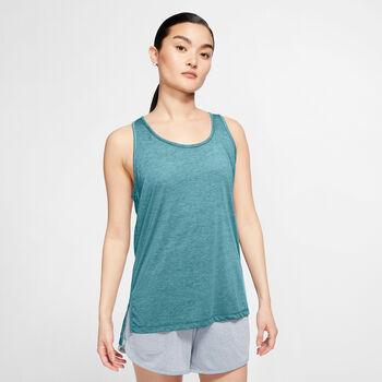 Nike Yoga top Dames Blauw