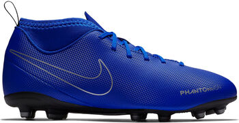 Nike JR Phantom Vision Club Dynamic Fit FG/MG voetbalschoenen Blauw