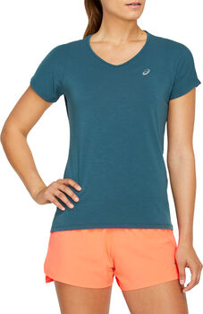 ASICS V-Neck shirt Dames Blauw