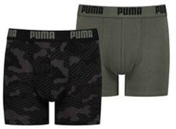 Puma Camo Aop kids boxer (2 paar) Jongens Groen
