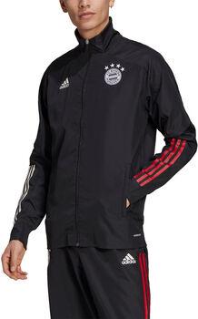 adidas FC Bayern München Presentation jack 20/21 Heren Zwart