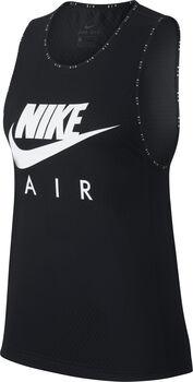 Nike Air Running top Dames Zwart