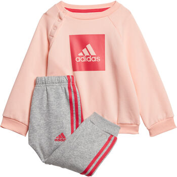 adidas 3-Stripes Fleece kids joggingpak Meisjes Oranje