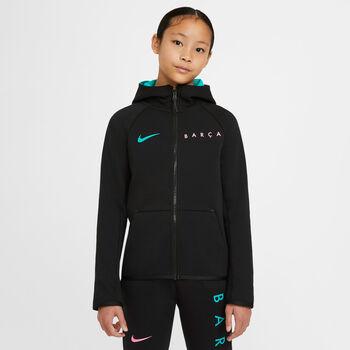 Nike FC Barcelona Tech Fleece Essentials kids hoodie Jongens Zwart