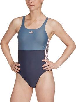 adidas  SH3.RO 3-Stripes Colorblock Badpak Dames Blauw