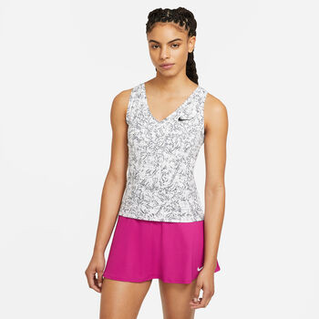 NikeCourt Victory Printed top Dames Wit