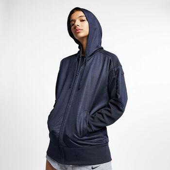 Nike Dry Shimmer hoodie Dames Blauw