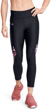 Under Armour HG Armour Ankle Crop Print tight Dames Zwart