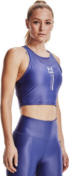 Under Armour ISO Chill Crop tanktop Dames Blauw