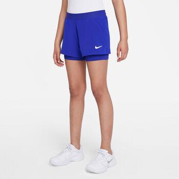Nike Court Dri-FIT Victory kids short Meisjes Blauw