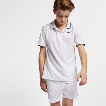 NikeCourt Dri-FIT kids t-shirt Jongens Wit