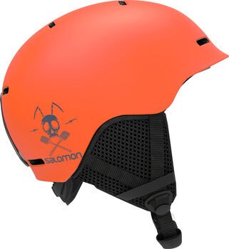 Salomon Grom kids skihelm Oranje