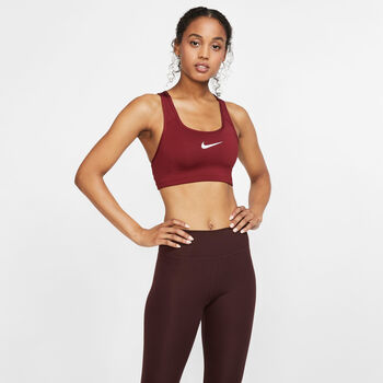 Nike Swoosh sportbeha Dames Rood