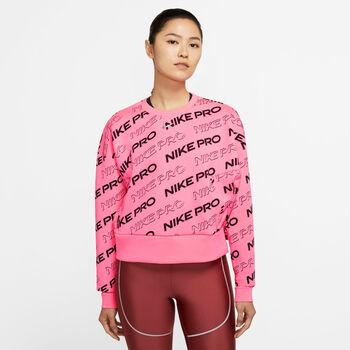 Nike Pro Fleece Crew sweater Dames Roze