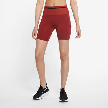 Nike Epic Luxe Trail short Dames Rood