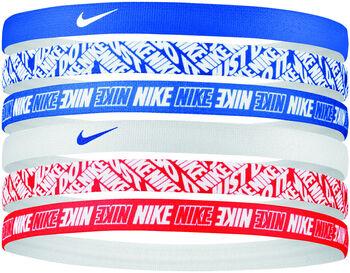 Nike Printed haarbandjes (6 paar) Blauw