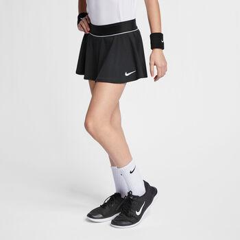 Nike Court Flouncy tennisrokje Meisjes Zwart