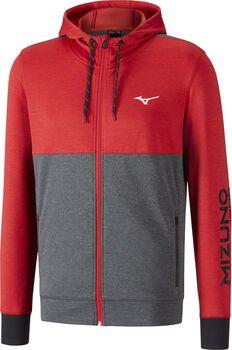 Mizuno Heritage Zip hoodie Heren Rood