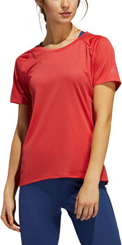adidas 25/7 Rise Up N Run Parley shirt Dames Rood