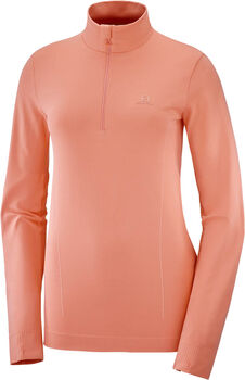 Salomon Comet Seamless Half-Zip skipully Dames Roze