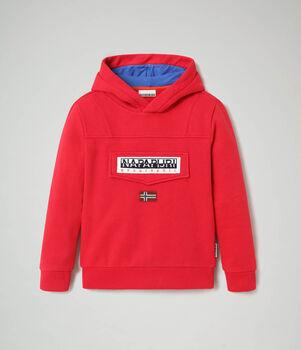 Napapijri Burgee kids hoodie Jongens Rood