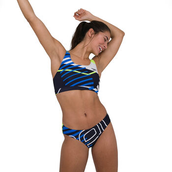 Speedo Placement U-Back bikini Dames Blauw