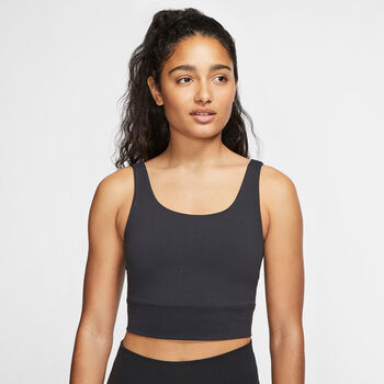 Nike Yoga Luxe top Dames Zwart