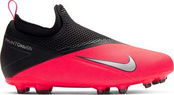 Nike Phantom Vision 2 Academy Dynamic Fit MG kids voetbalschoenen Jongens Rood
