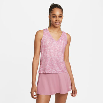 NikeCourt Victory Printed top Dames Rood