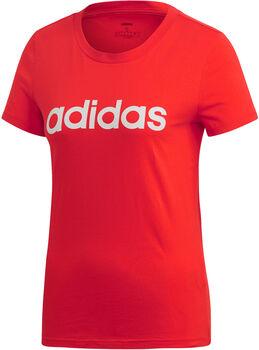 ADIDAS Linear shirt Dames Rood