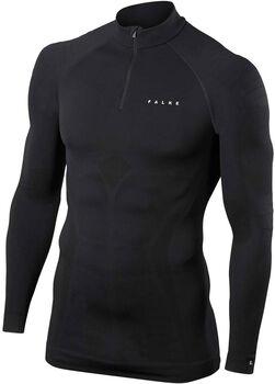 Falke Underwear Zip shirt Dames Zwart