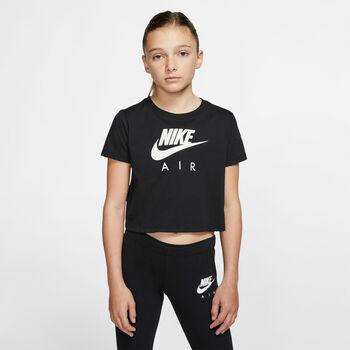Nike Sportswear Air Crop shirt Meisjes Zwart